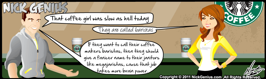 Comic Strip: Starbucks