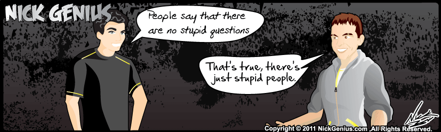 Comic Strip: Stupid Questions