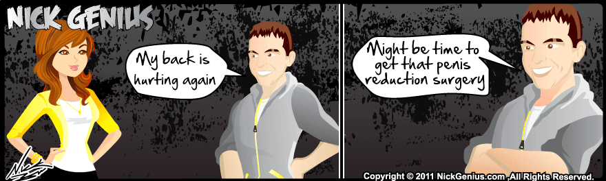 Comic Strip: Back is hurting