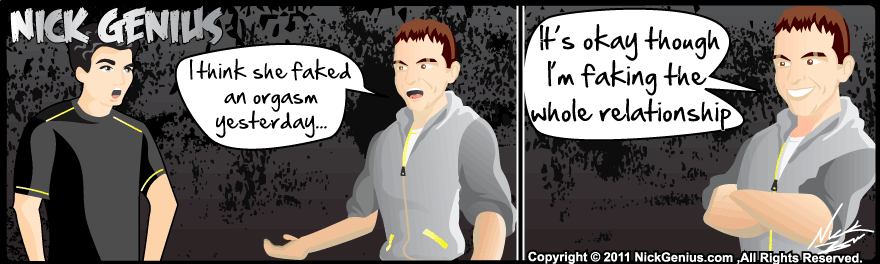 Comic Strip: Faking it