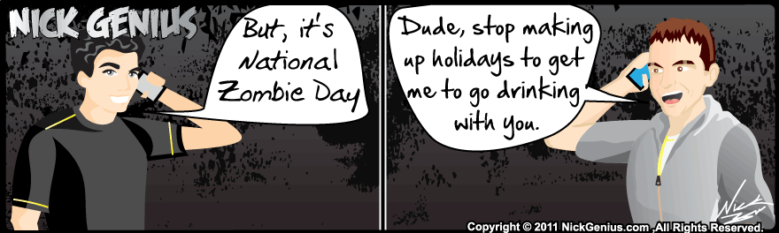 Comic Strip: National Zombie Day